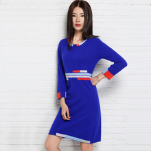 2016 New Women Sweater Cashmere Knitted Winter Warm Dress for ladies Long Woolen Pullover Hot Sale Woman clothes