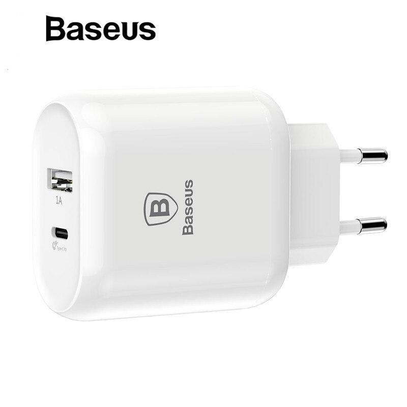 Baseus Typ C PD Schnell Ladung USB Ladegerät 32 W EU Stecker Adapter Universal 5 V/3A Reise PD schnelle Lade Für iPhone Samsung Xiaomi