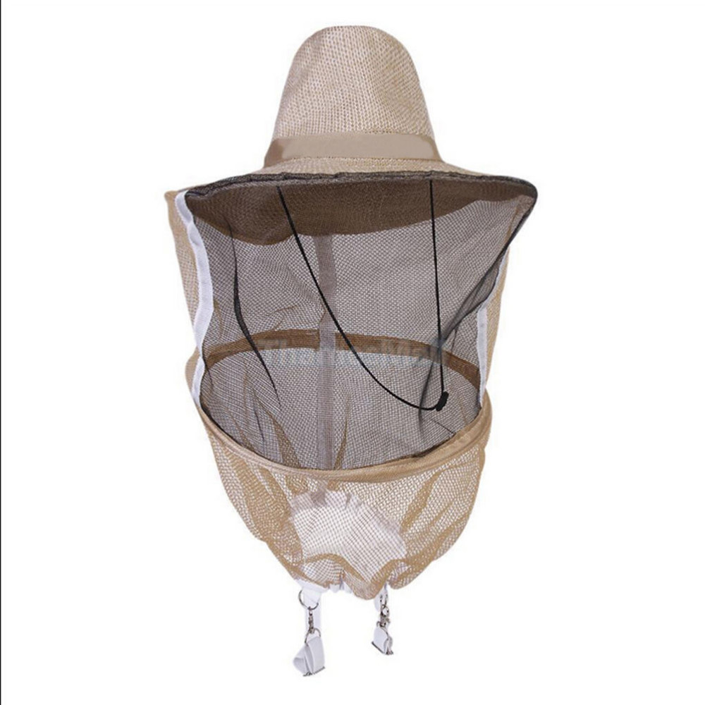 Camouflage Beekeeping Hat Beekeeper Hat Mosquito Bee Net Veil Full Face  Neck Cover Outdoor Bug Mesh Mask Head Protective Cap 6a715213027d