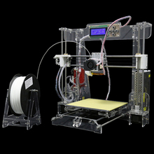 2017 LCD Precision Reprap Prusa i3 3d Printer kit DIY Upgraded Large Printing size with 1Rolls Filament 8GB SD card and LCD Free