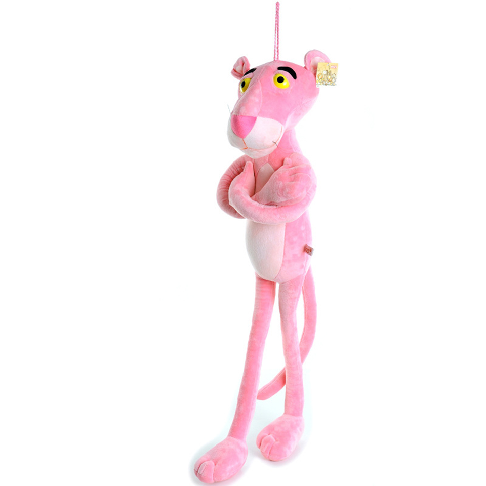 60CM Plush Big Pink Panther Toys Stuffed Doll Soft Naughty Leopard Children Teenagers Gifts