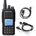 D900 Digital Zastone Walkie Talkie DMR Digital Portátil de Radio Transmisor-Receptor UHF de Dos Vías Handheld de Radio + Auricular + Cable de Programación