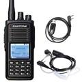 Zastone Walkie Talkie Digital de D900 DMR Digital Portátil Transceptor de Rádio UHF Handheld Rádio em Dois Sentidos + Fone de Ouvido + Cabo de Programação