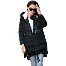 Women's Winter Jacket 2016 Down Coat Casual Winter Jacket Plus Size 3XL Hooded Coat Long Style Parka Womens Jackets WC747
