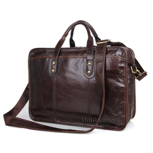 Business bag males leather-based purse real leather-based laptop computer purse classic leather-based males briefcase with double zipper layers area
