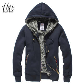 HanHent Thickened Brand Men Coats Faux Fur Fashion Mens Tracksuit Hoodies 2018 Winter Warm Sweatshirt Hooded Male AG0014 - DISCOUNT ITEM  0% OFF All Category