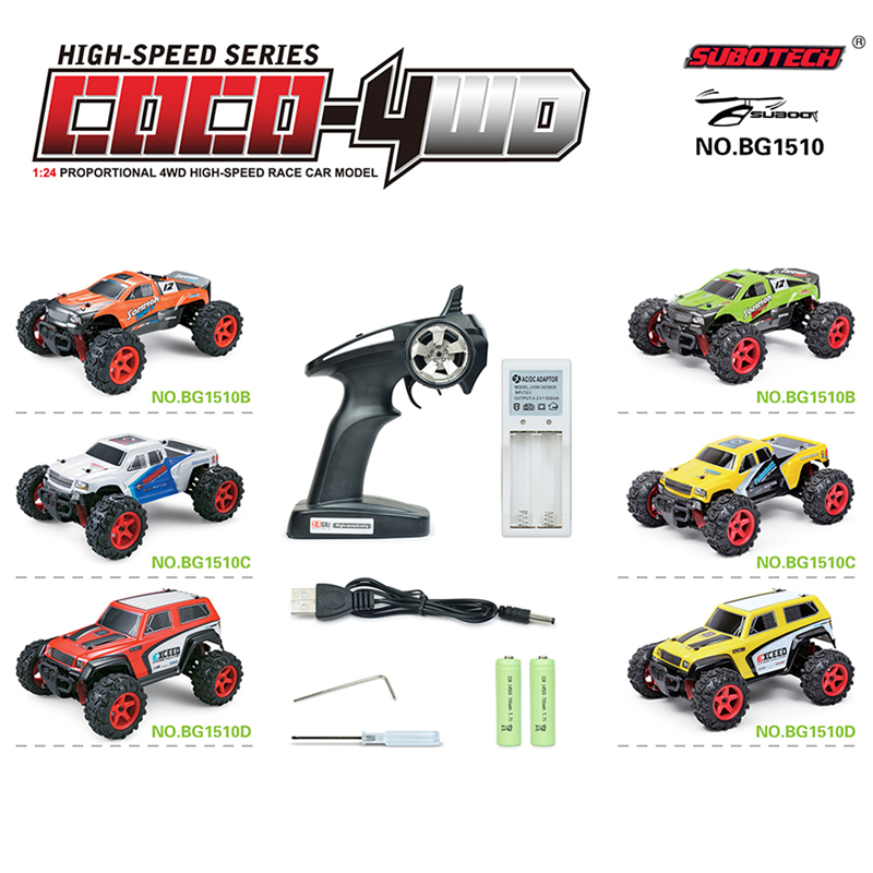 ФОТО 1/24 Full Scale 2.4G 4X4 Drive High Speed Off Road Remote Control Car Racing Drifting 40km/h High Speed RC Car Toys For Boys