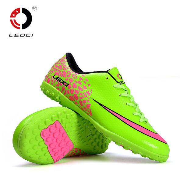LEOCI Mans Soccer Shoes Non slip breathable football