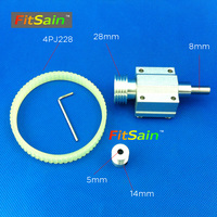 FitSain Hole 5mm Pulley Machine Pulley Bench Mini Lathe Spindle Shaft 8mm Mini Table Saw Mini