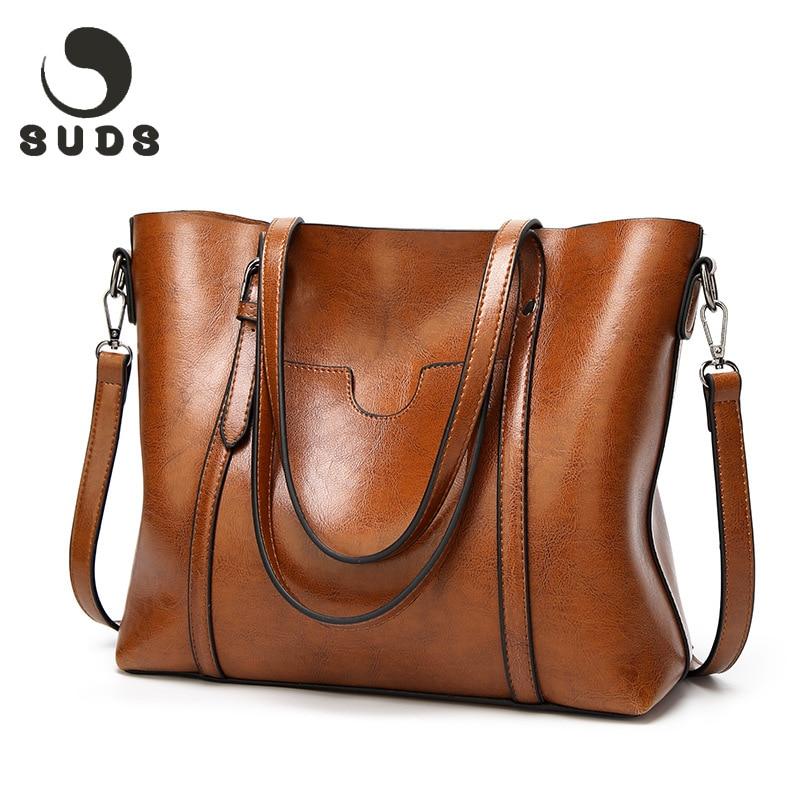 SUDS 2018 PU Γυναικεία δερμάτινη τσάντα ώμου πολυτέλειας Υψηλής ποιότητας στερεά μαλακή τσάντα ώμου Γυναικεία δερμάτινα θηλυκά φερμουάρ μαύρο