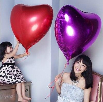Düğün Dekorasyon Helyum Balonlar Büyük Kırmızı Kalp Shapped - Tatiller ve Partiler Için - Fotoğraf 6