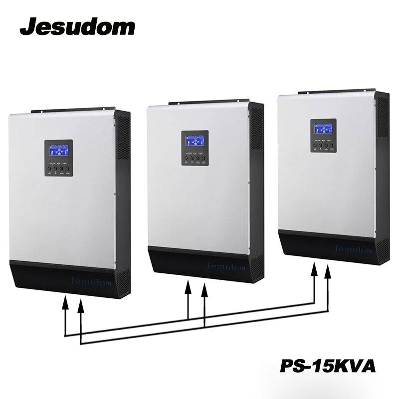PWM Hybrid Inverter 15KVA Pure Sine Wave Inverter Built in 3pcs 48V 50A Solar Controller with
