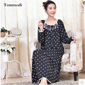 Nightdress For Women Spring and Autumn Long Nightgowns Washing Knitted Cotton  Ladies Long Nightgown Princess Sleepshirts