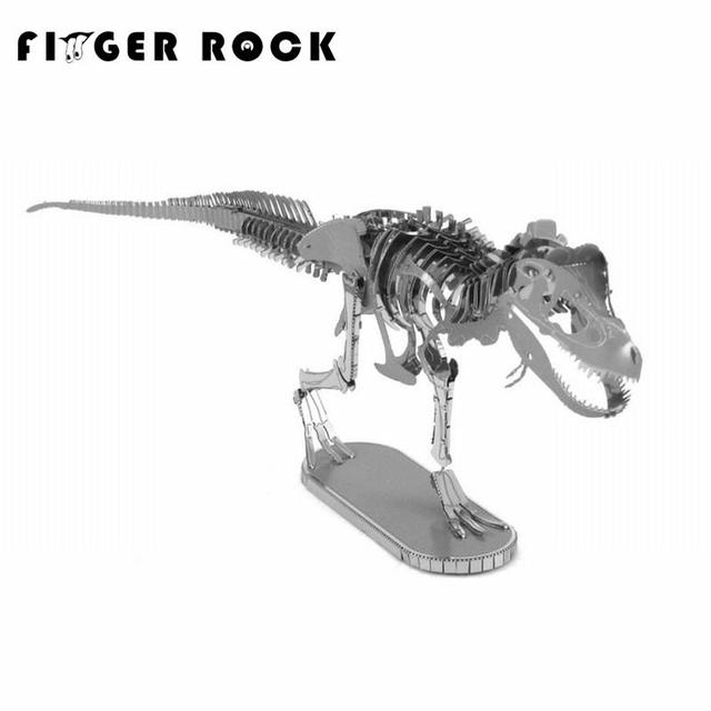 Finger Rock Metal 3D Puzzle Tyrannosaurus Rex Skeleton DIY Dinosaur Model Children Assembly Jigsaw Toys