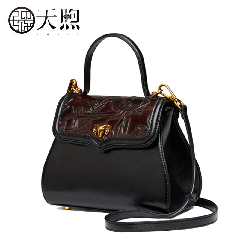 New women Genuine Leather bags fashion Embossed Flowers luxury tote handbags designer women bag leather shoulder Crossbody bags new women leather bags fashion embroider flowers luxury tote handbags designer women bag leather handbags crossbody bags