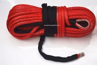 Red 14mm 30m Synthetic Winch Rope ATV Winch Cable Towing Ropes For Auto Accessaries 4x4