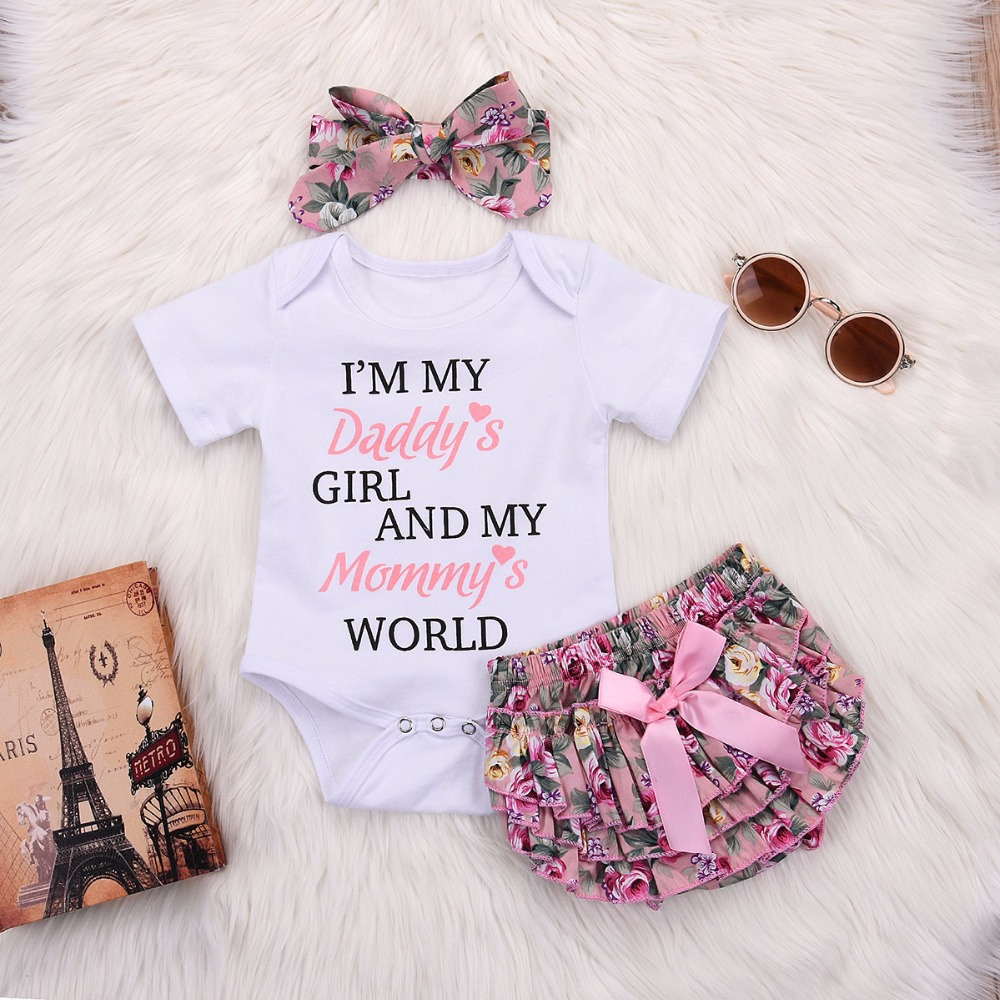 Bodysuits & One-pieces 2019 Summer Baby Girls Rompers Infant Toddler Jumpsuit Lace Collar Short Sleeve Baby Girl Clothing Newborn S Clothes Mother & Kids