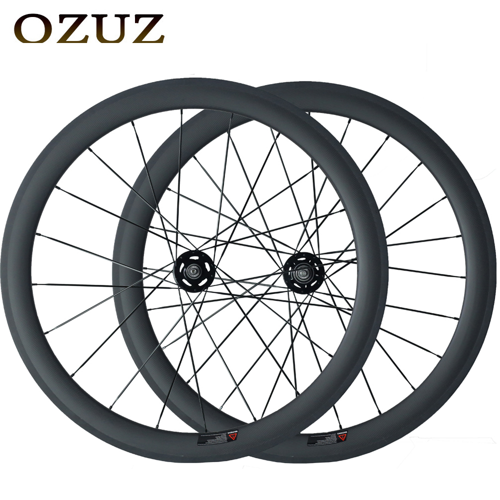 Free Customs Fee Carbon Cycling wheel Track Fixed Gear 50mm Clincher Tubular 700C Flip Flop fixed gear Single Speed bike wheels low price for sale oem 700c full carbon disc wheels front road bike fixed gear single speed bicycle wheel rear tubular clincher