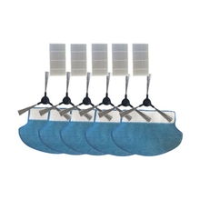 6Side Brush+5Mop Cleaning Cloth+5Hepa Filter For Proscenic Vacuum Cleaner 780 T 780Ts 790T Replacement Cleaner Filter Set proscenic 790t robot vacuum cleaner replacement kit 1 pc of bristle brush