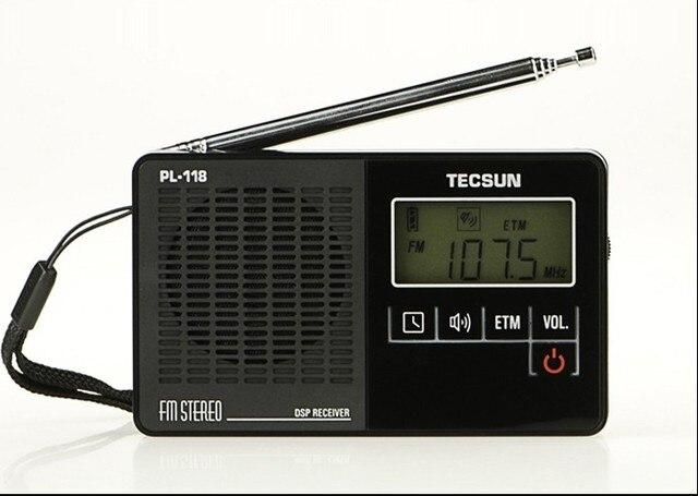 Tecsun PL-118 PL118 ультра-легкие мини-радио, Высокая чувствительность PLL этм FM стерео DSP группа радиоприемник с цифровыми часами