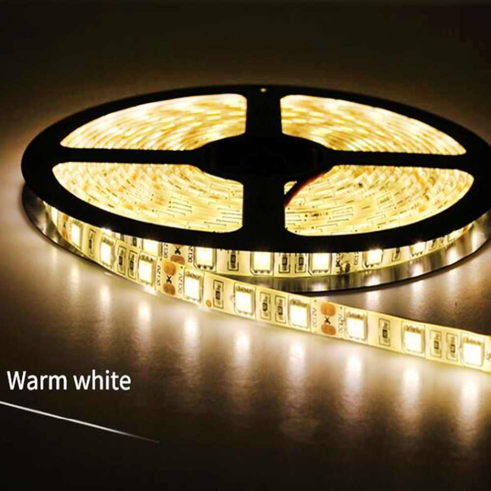 Ruban adhésif de LED avec bande, bande de LED 5050 DC12V 60/s/m 5 m/lot, à base Flexible auto-adhésive, bande RGB RGBW 5050