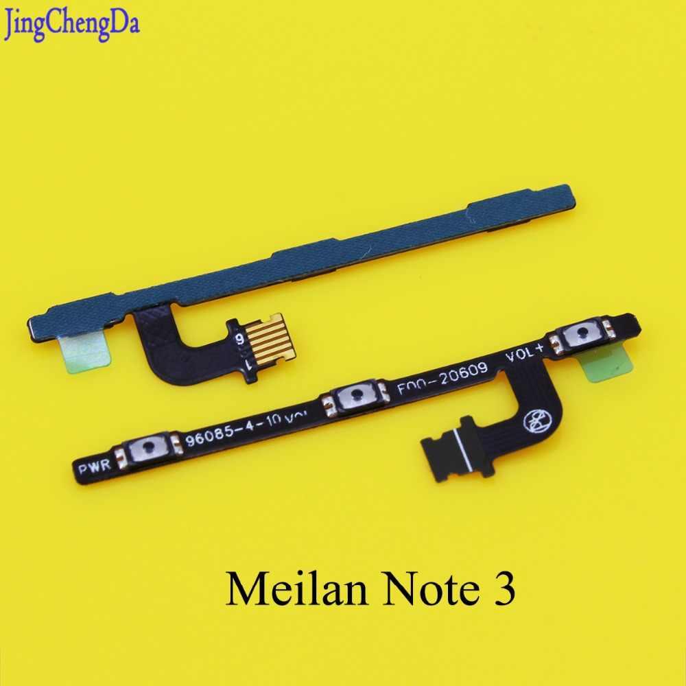 JCD для Meizu M3 Note 3 Meilan Note3 Новый Мощность Кнопка гибкие кабели + Кнопка громкости гибкий кабель с разъемом для подзарядки