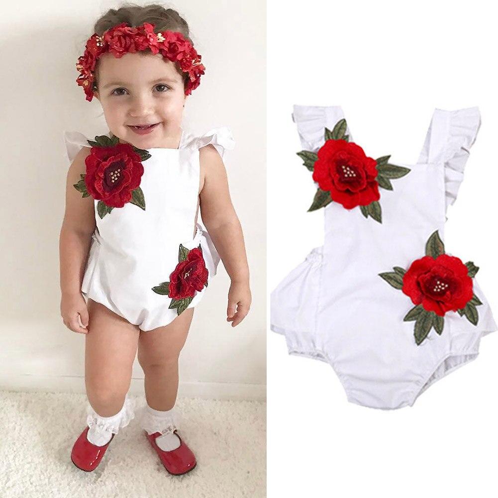 Children Kids Girl Jumpsuit Jumper Bodysuit Sleeveless Floral Backless Summer Sunsuit AN88
