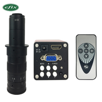 eifx 14MP 1080P Digital Video HDMI Microscope Camera +130X/180X C mount lens for PCB Soldering Repair Dual display output