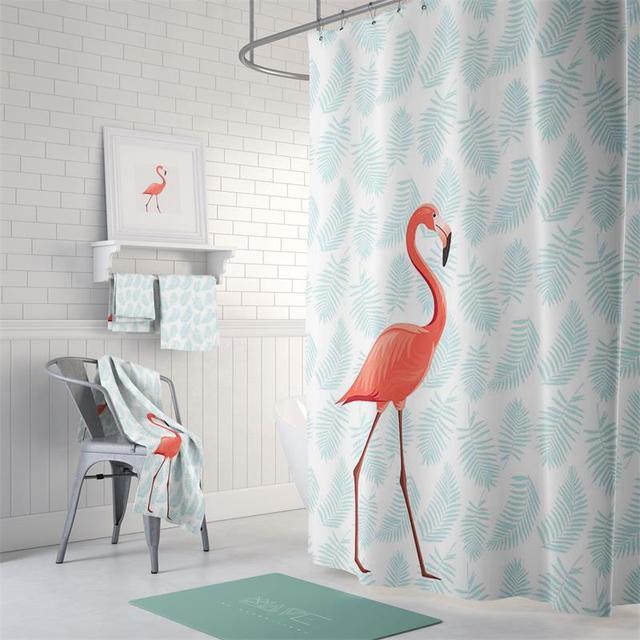 Genial 180cm*200cm Flamingo Bathroom Waterproof Mildew Proof Shower Curtain With Curtain  Hooks Rings