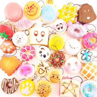 20Pcs Lot Squeeze Toy Mochi Toys Slow Rising Cute Soft Slow Rising Animal Bread Cake Ice