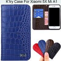 K Try Alligator Skin Genuine Real Leather Phone Case Luxury Elegant Waist Pouch For XiaoMi 5X