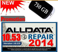 2014 ALLDATA 10 53 Car Repair Software With 3 0USB 640GB Hard Disk Free Shipping