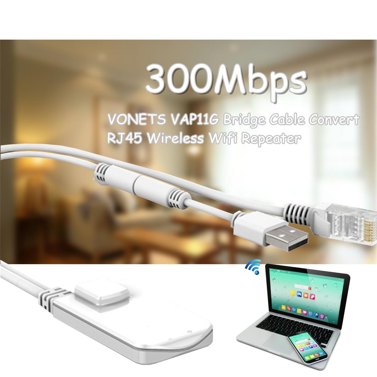 LEORY VAP11G 300Mbps Wireless Mini Wifi Repeater Bridge Cable Convert RJ45