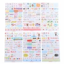6 PCS lot Lovely Paper Sticker For Children Kids Diary Decoration Diy Scrapbooking Stationery Sticker Kawaii