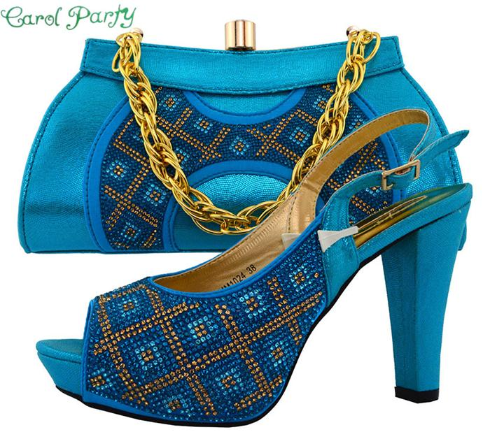 Shoe and Bag Set Fashion Good Material African Women Matching Italian Shoe and Bag Set for Wedding Nigerian Shoe and Bag  MM1024 italian shoe with matching bag set for wedding african matching shoe and bag set with stones high quality women pumps red gf24