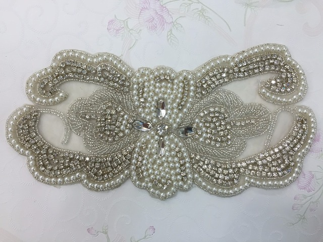(30pieces) Wholesale Hotfix Cristal Stones and Crystals Rhinestone Sequin  Applique for Garment Dresses Headband 8cf00b87dbbf