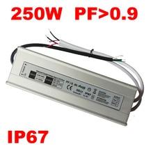 DC 12 V 24V LED 100W 120W 150W 200W 250W 300W กันน้ำ IP67 12 โวลต์ LED Transformer alimentation 5A 10A 15A