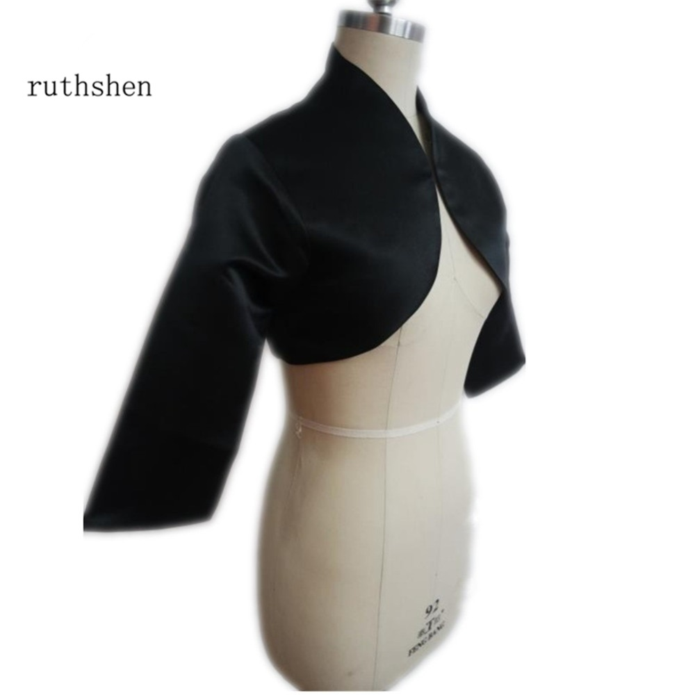 ruthshen Black Women Jacket Hot Sell Bridal Accessories Cheap Wedding Jackets / Bolero / Shrug Custom ...
