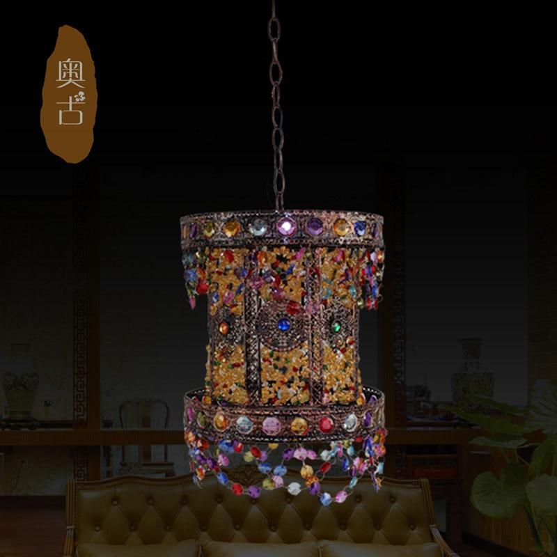 Southeast Asia Mediterranean ambience chandelier bar aisle retro bedroom bedside lamp chandelier children's room D-43