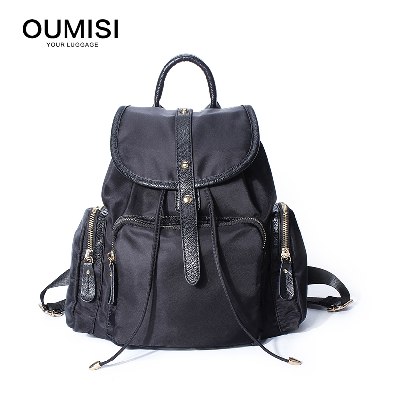 OUMISI Backpack Women Cute School Backpacks for Teenage Girls Vintage Laptop Bag Rucksack Bagpack Female Schoolbag jmd backpacks for teenage girls women leather with headphone jack backpack school bag casual large capacity vintage laptop bag