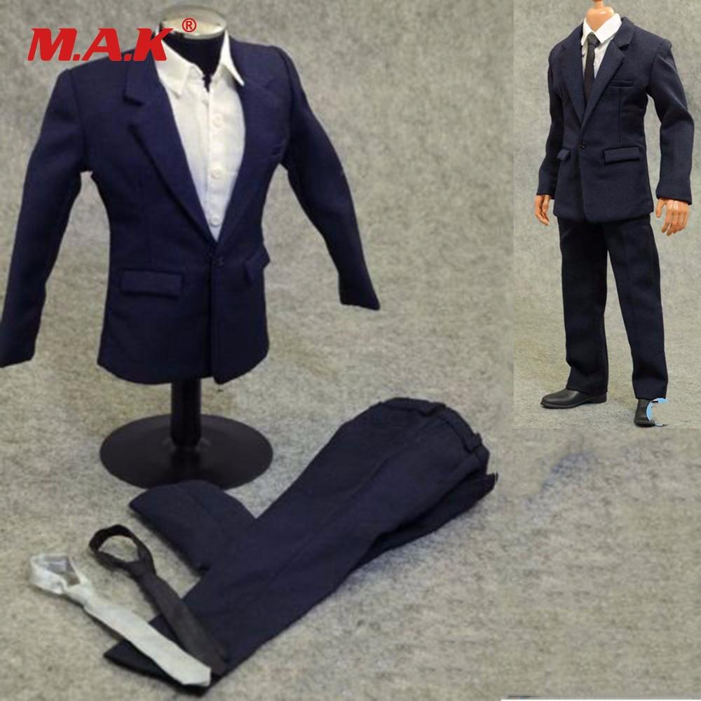 1/6 Scale Clothes Men Blue Suits Set For 12 Action Figure Body