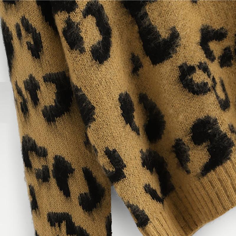 SHEIN Leopard Animal Print Sweater 1