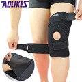 AOLIKES 1 Peça Esportes Joelheiras Quatro Molas de Apoio EVA Respirável Brace Knee Protector Kneepad ginocchiere