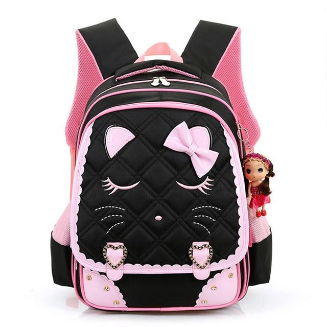 2016 Девочки Школьные Сумки Детей Рюкзак Первичной Ортопедические Bookbag Принцесса Ранцы Mochila Infantil sac dos enfant ортопедический рюкзак школьные рюкзаки для девочек портфель для школы сумки для девочек