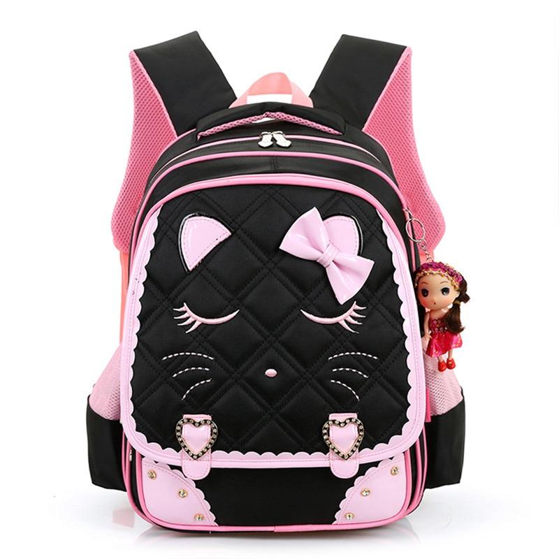 2017 Girls School Bags Children Backpack Primary Bookbag Orthopedic Princess Schoolbags Mochila Infantil sac a dos