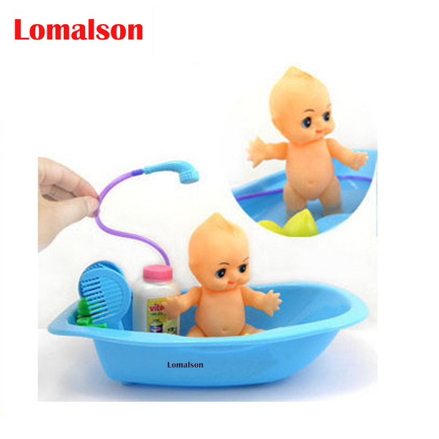kids bath toys Basin full body bathtub baby swimming toys doll ...
