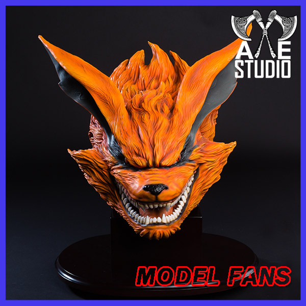 MODEL FANS IN-STOCK AXE Naruto Kurama kyuubi head GK resin made statue for Collection Handicrafts футболка print bar kurama naruto