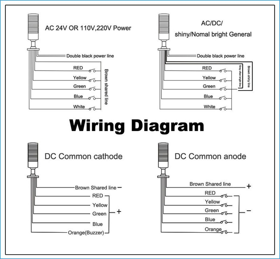 The following is the lamp wiring schematics. You can refer to the following wiring  diagram.