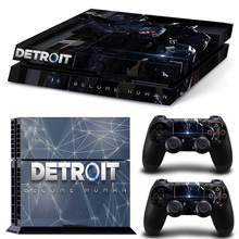 Detroit Become Human New Waterproof Sticker Removable PVC Skin for PS4