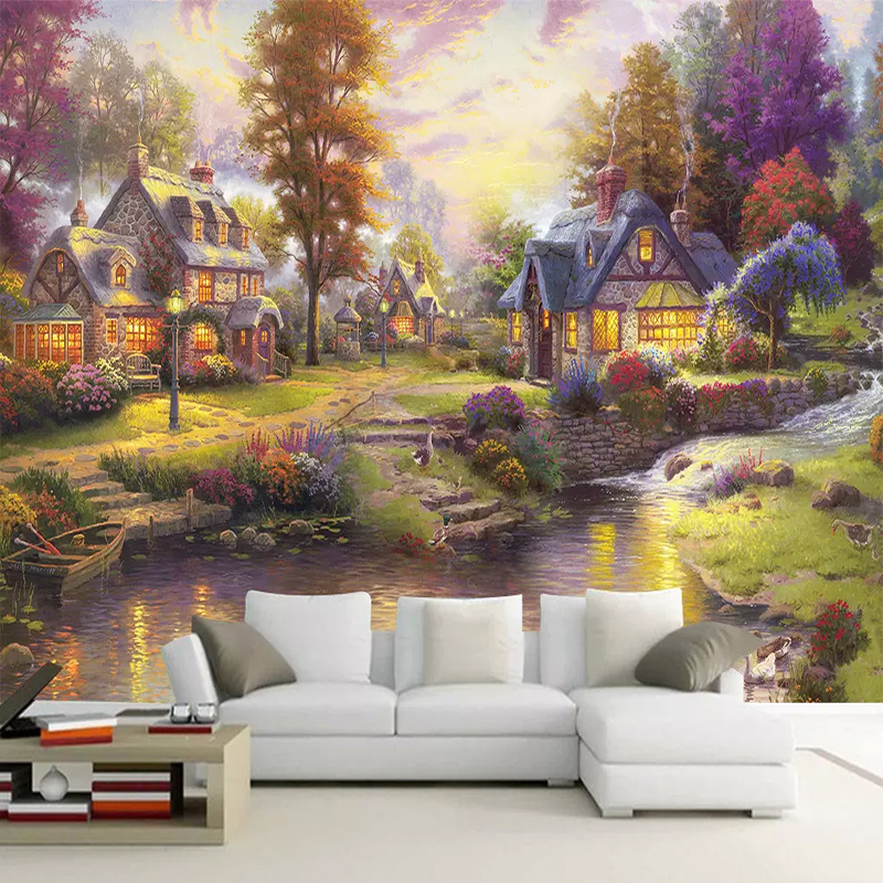 Custom Photo Wallpaper Thomas Style Forest Landscape Mural Living Room Bedroom TV Background Wall Decoration 3D Mural Wall Paper